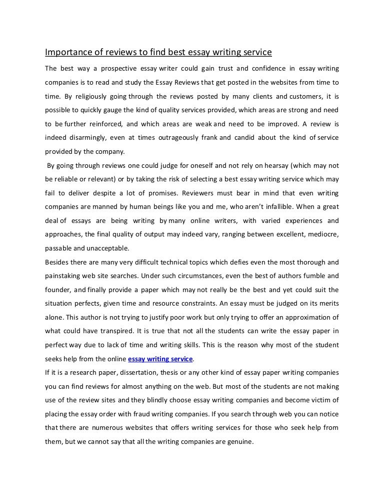 what is a review essay