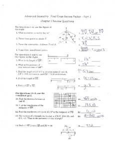 chemistry final exam review packet